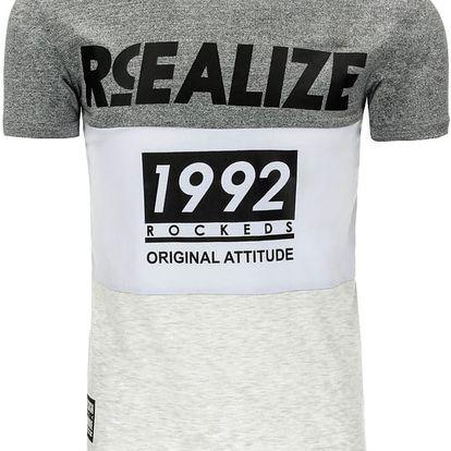 Pánské tričko Retta světle šedé