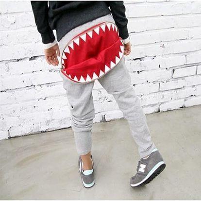 Dětské tepláky se žralokem - 2 barvy