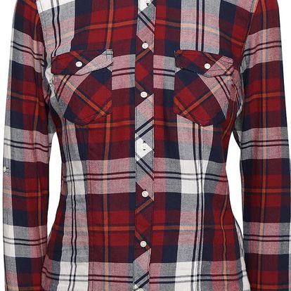 Modro-vínová károvaná košile TALLY WEiJL
