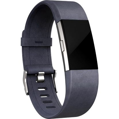 Fitbit Charge 2 Accessory Band kožený S, indigo - FB160LBIGS