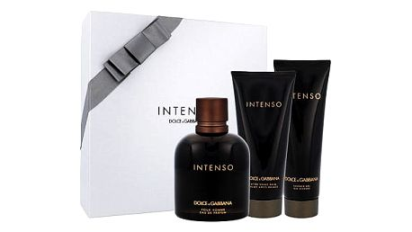 Dolce & Gabbana Pour Homme Intenso EDP dárková sada M - EDP 125 ml + balzám po holení 100 ml + sprchový gel 50 ml