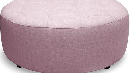 Růžový taburet Vivonita Jana