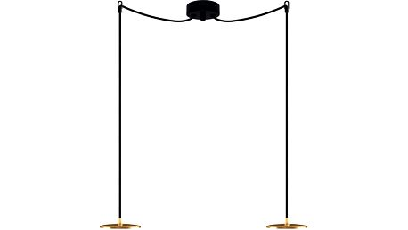 Černo-zlaté dvojité závěsné svítidlo Sotto Luce DOSEI Elementary 2S - doprava zdarma!