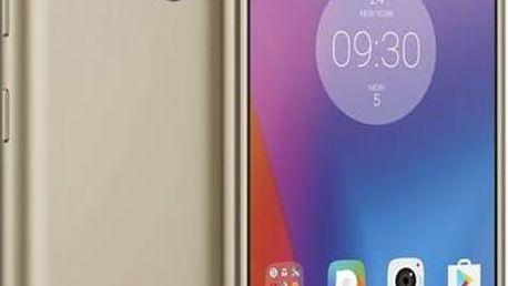 Mobilní telefon Lenovo K6 Dual SIM (PA530098CZ) zlatý SIM s kreditem T-Mobile 200Kč Twist Online Internet (zdarma)Software F-Secure SAFE 6 měsíců pro 3 zařízení (zdarma) + Doprava zdarma
