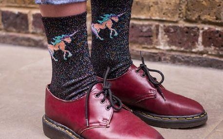 Třpytivé ponožky Jednorožec 2 páry