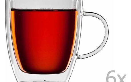 Sada 6 skleněných hrnků na čaj bloomix Darjeeling - doprava zdarma!