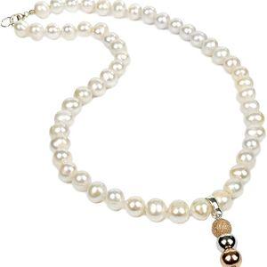 JwL Jewellery Náhrdelník z bílých perel s přívěskem JL0056