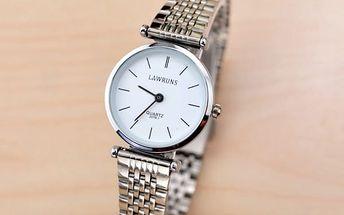 Ultratenké unisex hodinky s kovovým páskem - 2 barvy