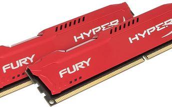 Kingston HyperX Fury Red 16GB (2x8GB) DDR3 1600 CL 10 - HX316C10FRK2/16