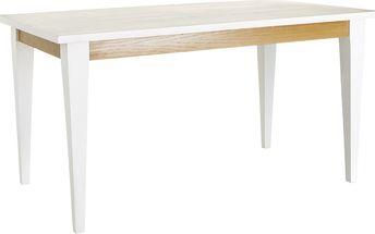 Bílý jídelní stůl Ixia Natural - doprava zdarma!