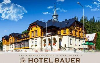 Jaro v Hotelu Bauer *** v horském údolí Bílá s polopenzí a wellness