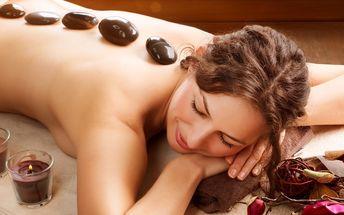 Královská masáž lávovými kameny - 60 minut