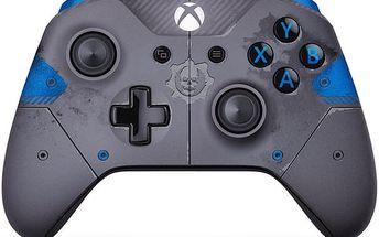 Microsoft Xbox ONE S Gamepad, bezdrátový, Gears of War, šedý (Xbox ONE S) - WL3-00008