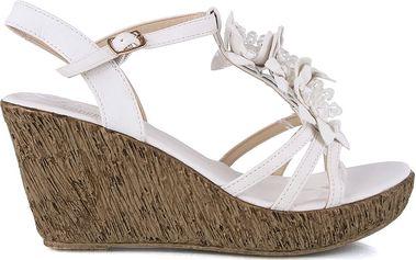 Sandálky na klínku MD7095-6WH 36