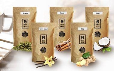 Zelená káva mletá s příchutí Kokos 250g