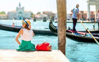 Romantické Benátky na gondole či bez s výběrem pobytů po celý rok