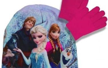 Set čepice a rukavice Frozen