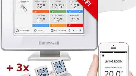 Honeywell Evohome Starter Set CZ, Evohome Touch WiFi + 3x termohlavice + BDR91, +5% ErP 8 - ATP921_EE2