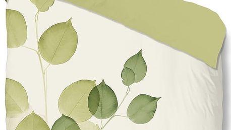 Zelené povlečení Muller Textiel Leaves, 140 x 200 cm