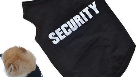 Vtipná vestička pro psy Security