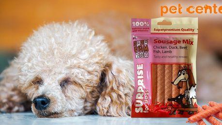2 balení libových párečků Huhubamboo pro psy