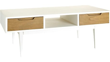 Bílý konferenční stolek Ixia Natural - doprava zdarma!