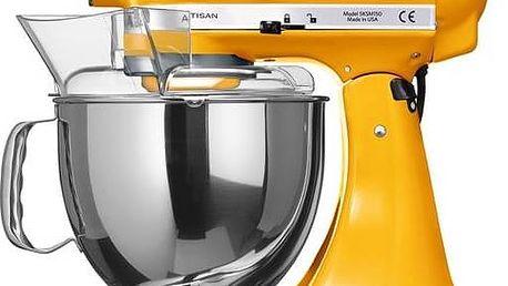 Kuchyňský robot KitchenAid Artisan 5KSM150PSEYP žlutý Příslušenství k robotu KitchenAid KB3SS nerezová mísa (3l) (zdarma)Příslušenství k robotu KitchenAid 5KFE5T plochý šlehač se stěrkou (zdarma) + Doprava zdarma