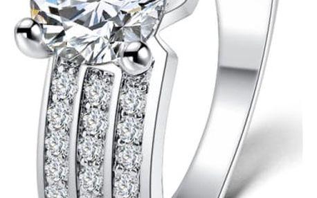 Dámský prstýnek s čirými kamínky - 2 barvy