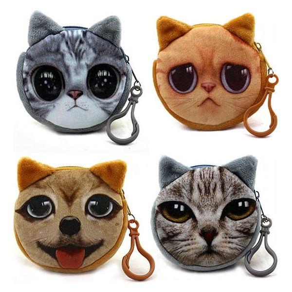 Zvířecí 3D peněženka - různé motivy