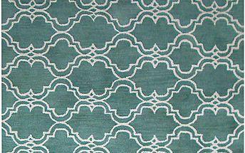Zelený vlněný koberec Bakero Riviera, 153x244cm - doprava zdarma!