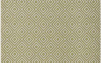 Zelený koberec Bougari vhodný i na ven Karo, 140x200 cm