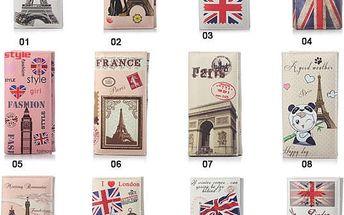 Skvělá retro peněženka Londýn/Paříž