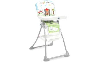 Jídelní židlička CAM MINI PLUS šedá/bílá/modrá/zelená