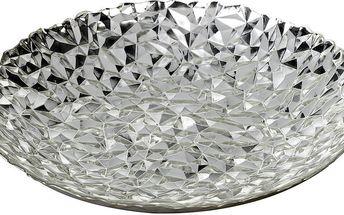 Skleněná stříbrná mísa Parlane Theta, Ø40 cm