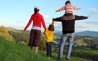 Rodinný pobyt na Valašsku s polopenzí a wellness