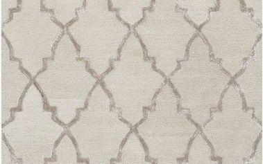 Ručně tuftovaný krémový koberec Bakero Kohinoor, 153 x 244cm - doprava zdarma!