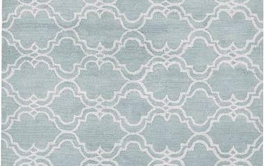 Světle modrý vlněný koberec Bakero Riviera, 122x183cm - doprava zdarma!