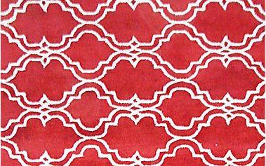 Červený vlněný koberec Bakero Riviera, 183x122cm - doprava zdarma!