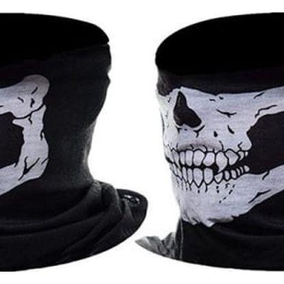 Šátek s motivem lebky - 2 kusy - dodání do 2 dnů