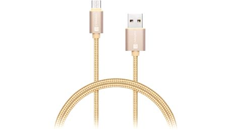 Kabel Connect IT Wirez Premium USB A/microUSB C, 1m (CI-666) zlatý