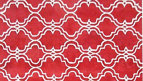 Červený vlněný koberec Bakero Riviera, 244x153cm - doprava zdarma!