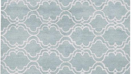 Světle modrý vlněný koberec Bakero Riviera, 153x244cm - doprava zdarma!