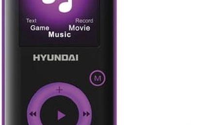 MP3 přehrávač Hyundai MPC 883 FM, 8GB černý/fialový