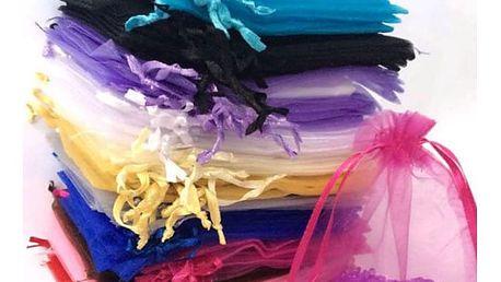 Sada dekorativních sáčků v různých barvách - 100 ks