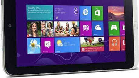 "Dotykový tablet Acer W3-810 (NT.L1JEC.002) stříbrný 8,1"", 64 GB, WF, BT, Win 8"