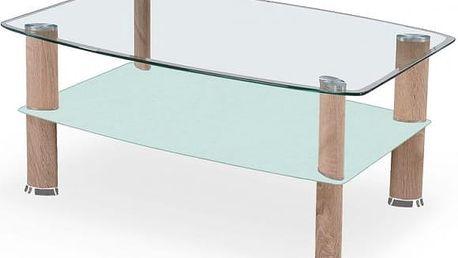 Konferenční stůl STRAKOŠ Astra skleněný / sonoma