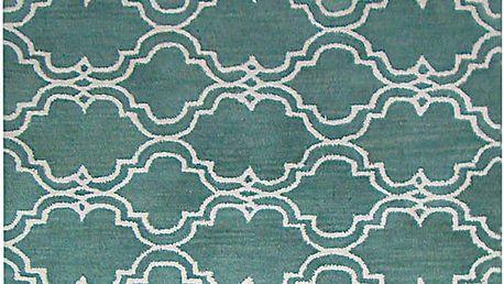 Zelený vlněný koberec Bakero Riviera, 122x183cm - doprava zdarma!