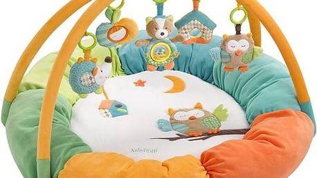 Hrací deka s hrazdou Baby FEHN Forest activity plyšová