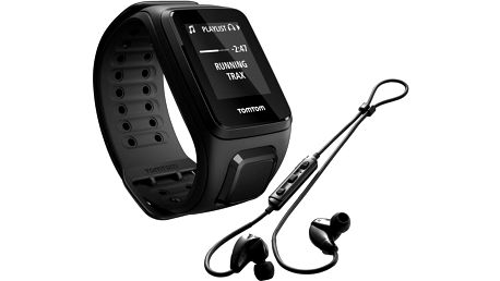 TOMTOM Spark Fitness Music (L), černá + bluetooth sluchátka - 1REM.003.04