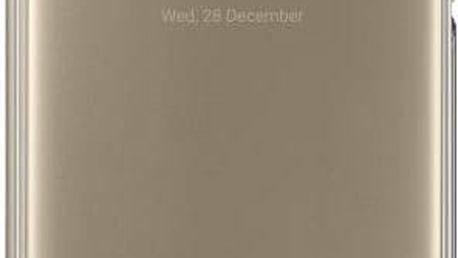 Pouzdro na mobil flipové Samsung Clear View pro Galaxy A5 2017 (EF-ZA520C) (EF-ZA520CFEGWW) zlaté